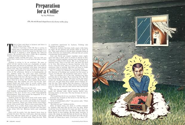Article Preview: Preparation for a Collie, AUGUST 1974 1974 | Esquire