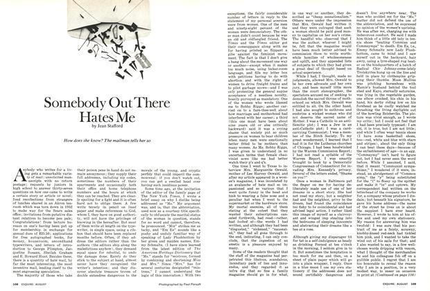 Article Preview: Somebody Out There Hates Me, AUGUST 1974 1974 | Esquire