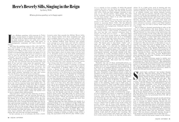 Article Preview: Here's Beverly Sills, Singing in the Reign, SEPTEMBER 1974 1974 | Esquire