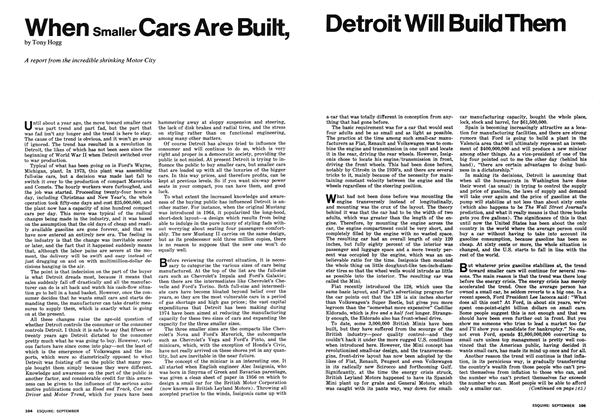 When Smaller Cars Are Built, Detroit Will Build Them