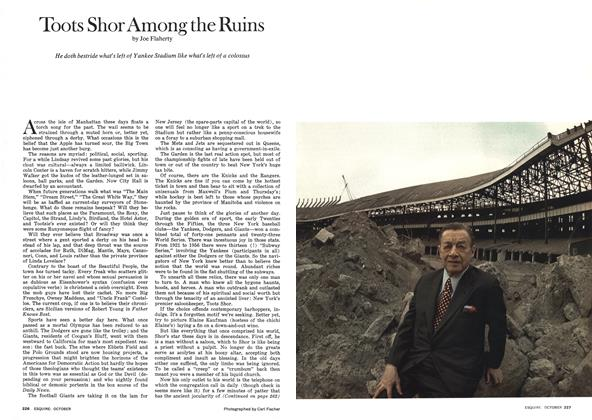 Article Preview: Toots Shor Among the Ruins, October 1974 | Esquire