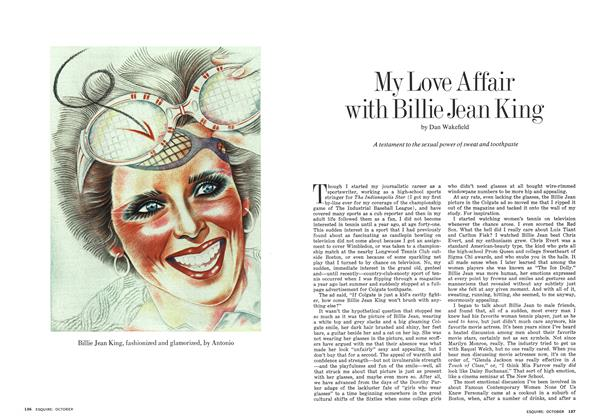 Article Preview: My Love Affair with Billie Jean King, OCTOBER 1974 1974 | Esquire