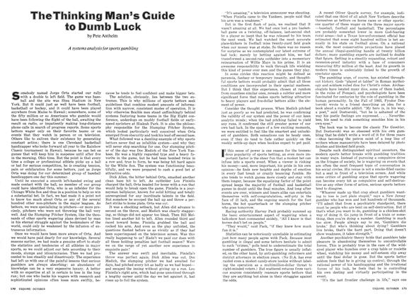 Article Preview: The Thinking Man's Guide to Dumb Luck, October 1974 | Esquire