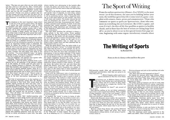 Article Preview: The Writing of Sports, October 1974 | Esquire