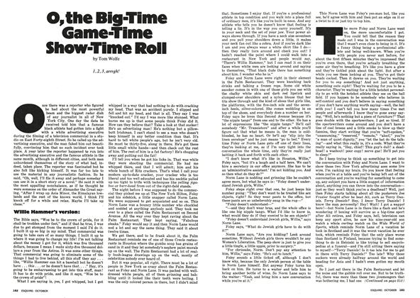 Article Preview: O, the Big-Time Game-Time Show-Time Roll, October 1974 | Esquire