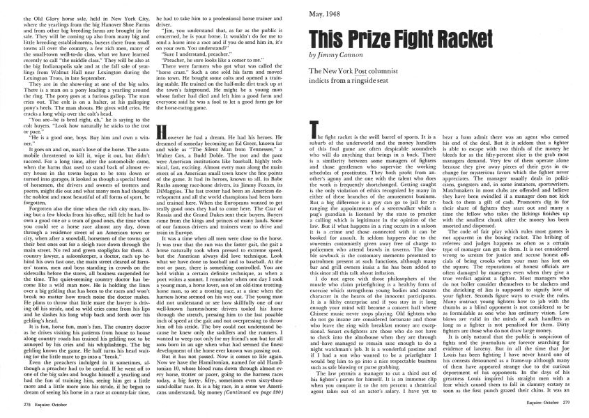 This Prize Fight Racket | Esquire | OCTOBER 1974