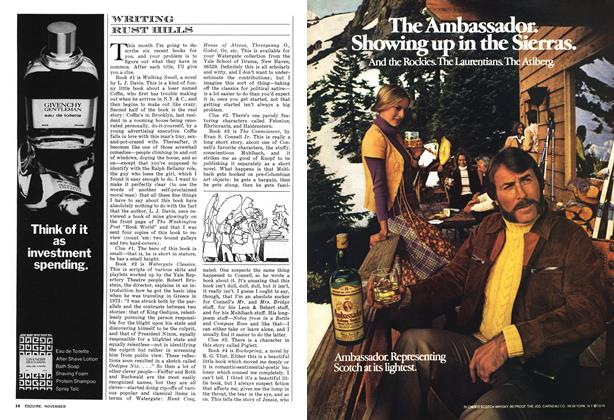 Article Preview: WRITING, NOVEMBER 1974 1974 | Esquire