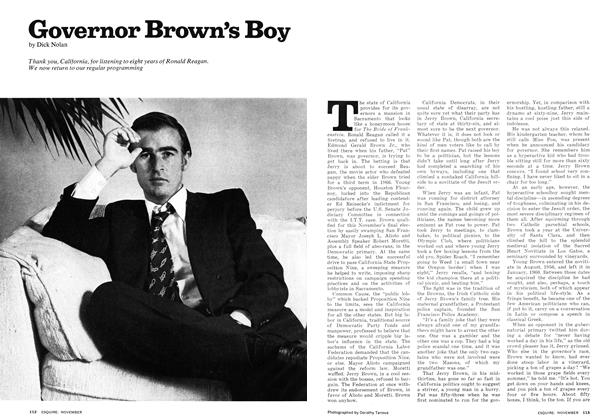 Article Preview: Governor Brown's Boy, NOVEMBER 1974 1974 | Esquire