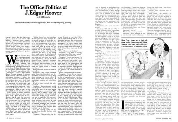 Article Preview: The Office Politics of J. Edgar Hoover, NOVEMBER 1974 1974 | Esquire
