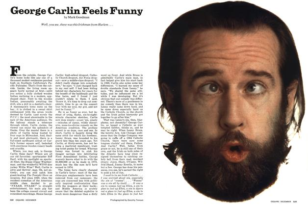 Article Preview: George Carlin Feels Funny, DECEMBER 1974 1974 | Esquire