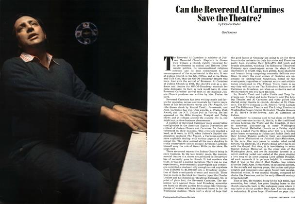 Article Preview: Can the Reverend Al Carmines Save the Theatre?, DECEMBER 1974 1974 | Esquire