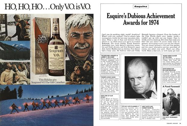 Esquire's Dubious Achievement Awards for 1974