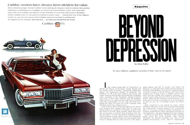 Article Preview: Beyond Depression, FEBRUARY 1975 1975 | Esquire