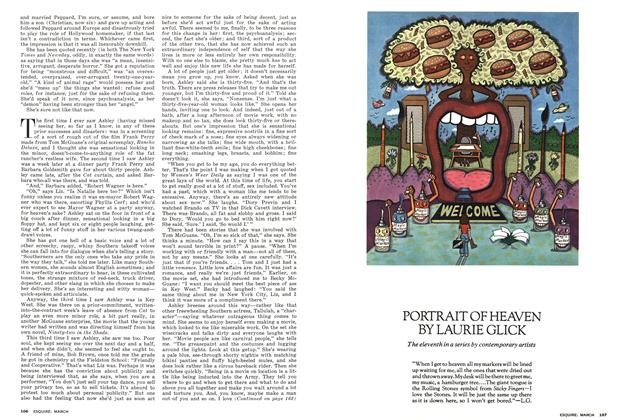 Article Preview: PORTRAIT OF HEAVEN, March 1975 | Esquire