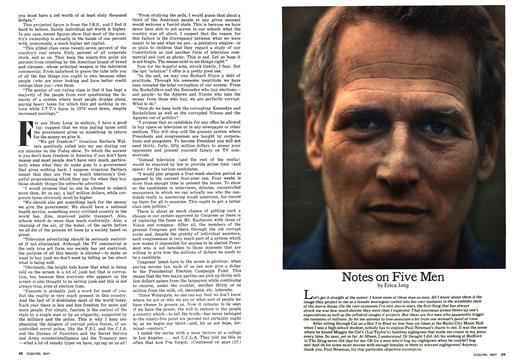 Notes on Five Men - May | Esquire