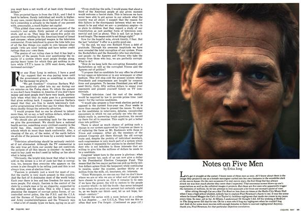 Article Preview: Notes on Five Men, MAY 1975 1975 | Esquire