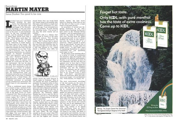 Article Preview: Janos Starker: Too Good to Be Nice, June 1975 | Esquire