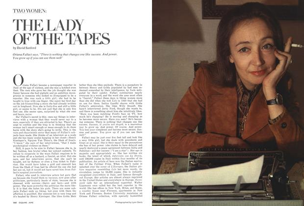 Article Preview: The Lady of the Tapes, JUNE 1975 1975 | Esquire