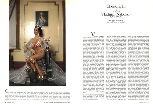 Article Preview: Checking in with Vladimir Nabokov, JULY 1975 1975 | Esquire