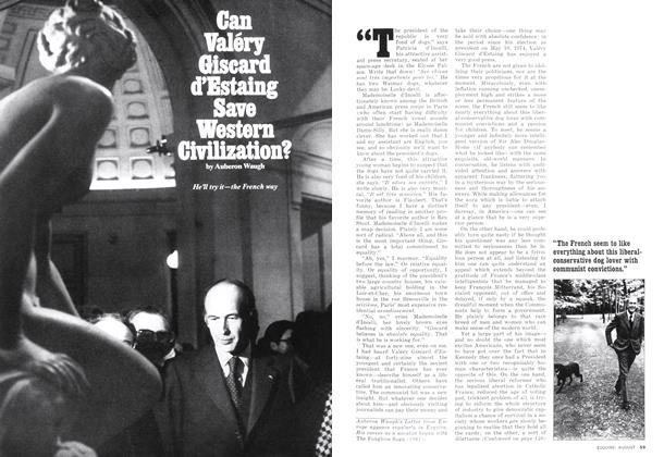 Can Valéry Giscard D'estalng Save Western Civilization?