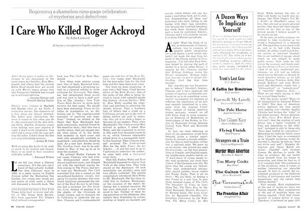 I Care Who Killed Roger Ackroyd