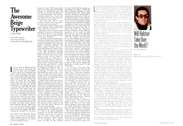 Article Preview: Will Halston Take Over the World?, AUGUST 1975 1975 | Esquire
