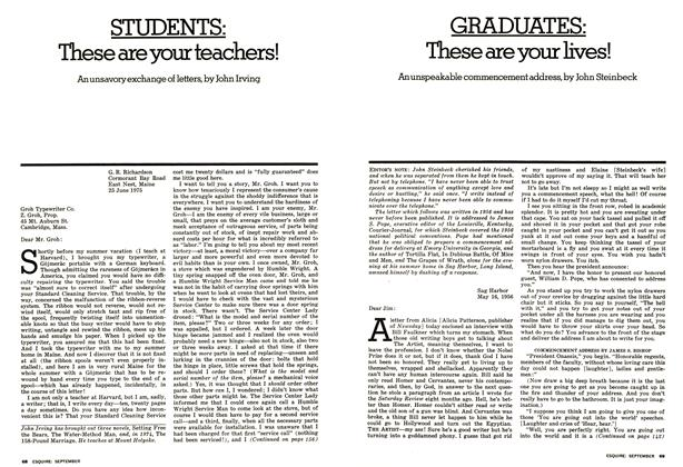 Article Preview: Graduates: These Are Your Lives!, SEPTEMBER 1975 1975 | Esquire