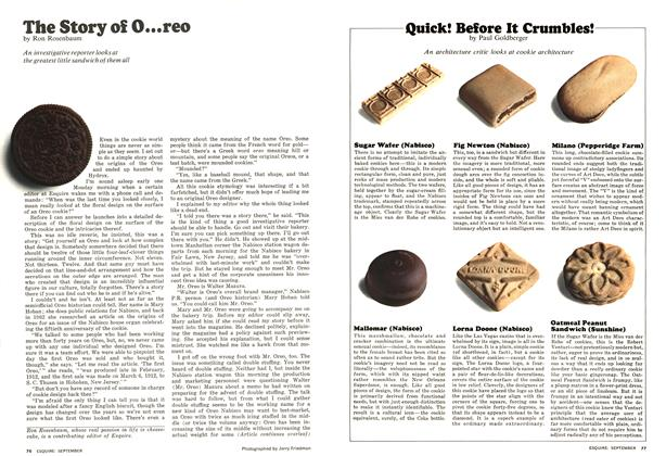 Article Preview: The Story of O...reo, SEPTEMBER 1975 1975 | Esquire
