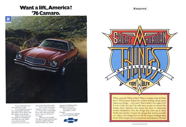 Article Preview: Great American Things, December 1975 | Esquire