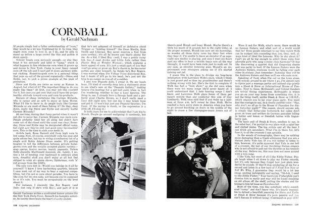 Article Preview: Cornball, December 1975 | Esquire