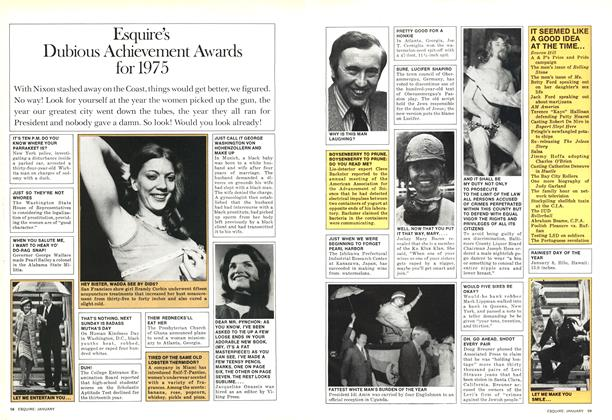 Esquire's Dubious Achievement Awards for 1975