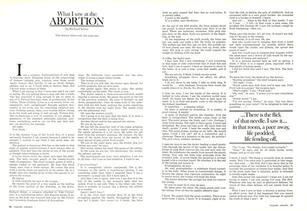 What I Saw at the Abortion