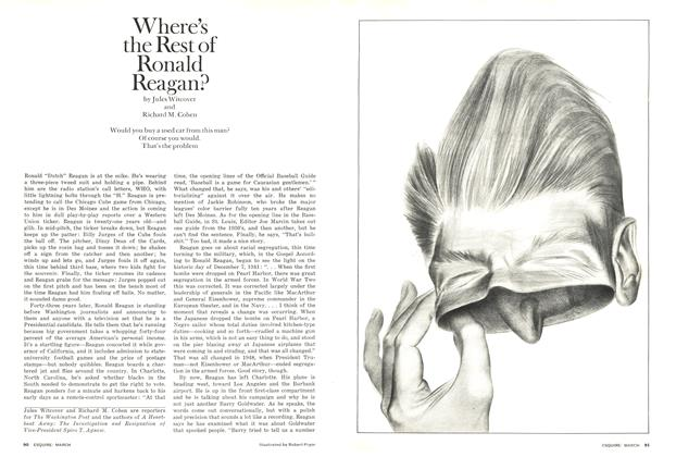 Article Preview: Where's the Rest of Ronald Reagan?, March 1976 | Esquire