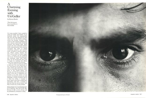 Article Preview: A Charming Evening with Uri Geller, March 1976 | Esquire