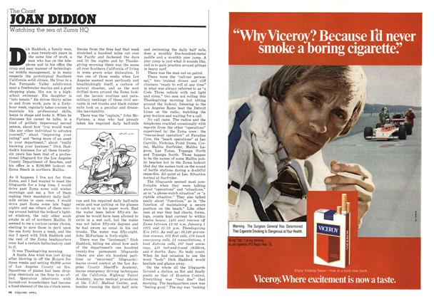 Article Preview: Watching the Sea at Zuma HQ, APRIL 1976 1976 | Esquire
