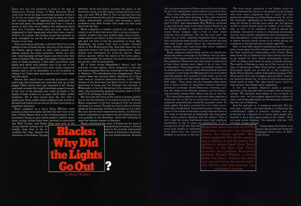 Blacks: Why Did the Lights Go Out ?