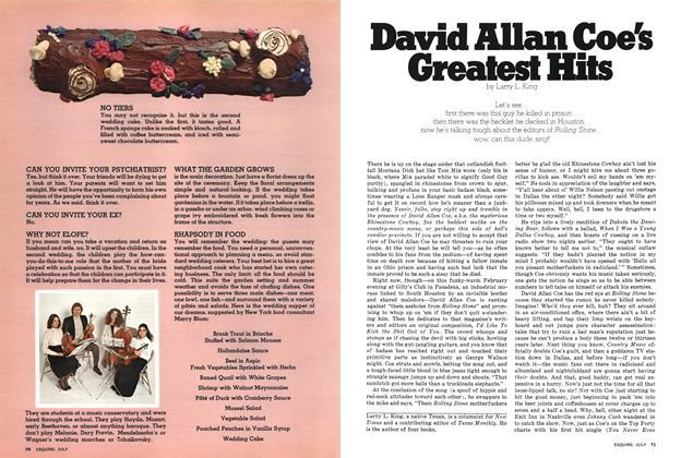 David Allan Coe's Greatest Hits