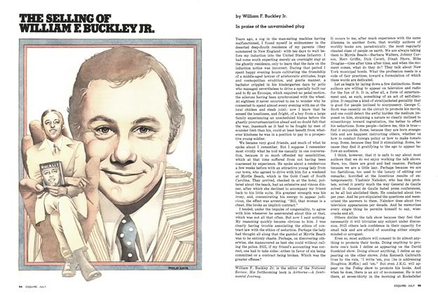 Article Preview: The Selling of William F. Buckley Jr., July 1976 | Esquire