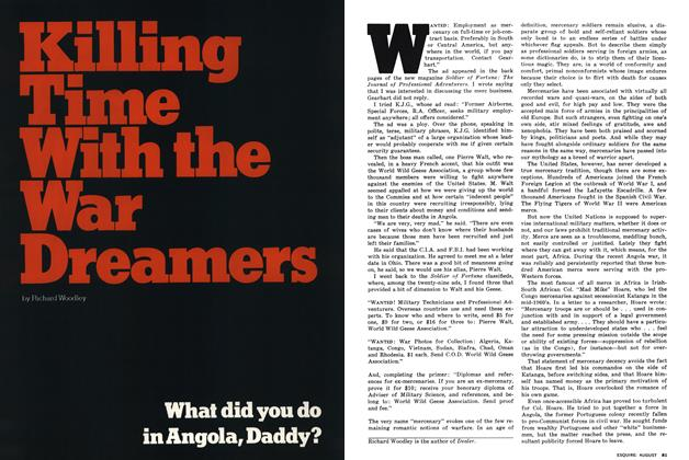 Article Preview: Killing Time With the War Dreamers, August 1976 | Esquire