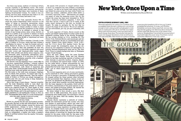 Article Preview: New York, Once Upon a Time, AUGUST 1976 1976   Esquire