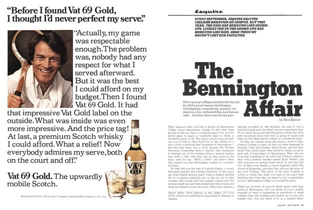 Article Preview: The Bennington Affair, SEPTEMBER 1976 1976 | Esquire