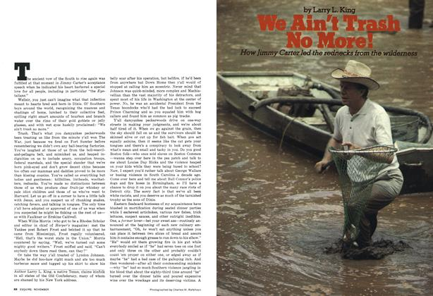 Article Preview: We Ain't Trash No More!, November 1976 | Esquire