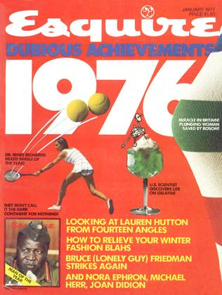 Cover for the January 1977 issue