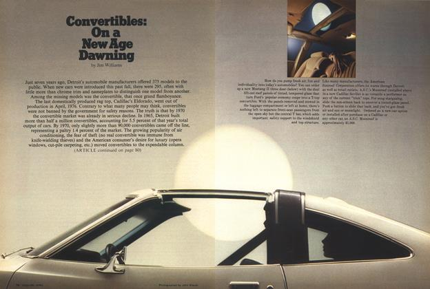 Convertibles: On a New Age Dawning