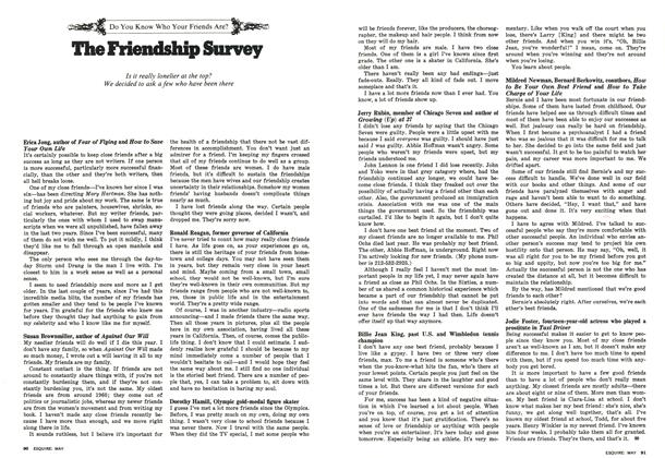 Article Preview: The Friendship Survey, MAY 1977 1977 | Esquire