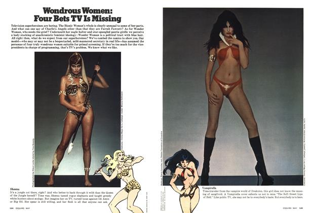 Article Preview: Wondrous Women: Four Bets TV Is Missing, MAY 1977 1977 | Esquire