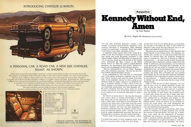 Article Preview: Kennedy Without End, Amen, JUNE 1977 1977 | Esquire