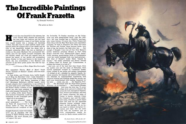 Article Preview: The Incredible Paintings of Frank Frazetta, June 1977 | Esquire