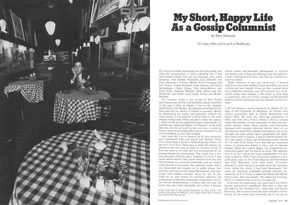 My Short, Happy Life as a Gossip Columnist