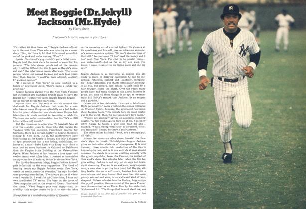 Article Preview: Meet Reggie (Dr. Jekyll) Jackson (Mr. Hyde), JULY 1977 1977 | Esquire